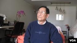 鲍彤(美国之音 张楠拍摄)