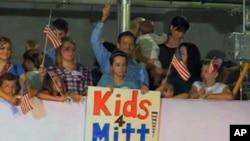 图为佛罗里达州民众参加共和党人总统竞选造势的电视截屏
