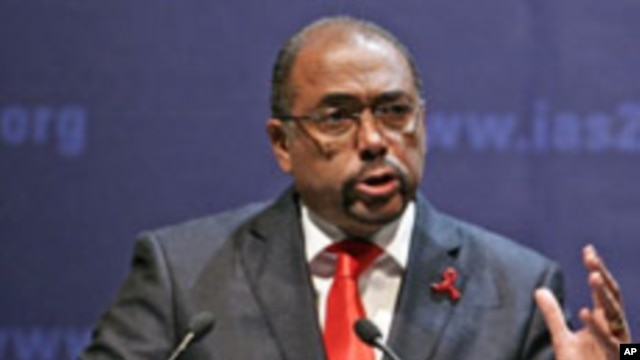 Michel Sidibe, head of the U.N. AIDS agency (July 2011 file photo).