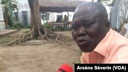 Augustin Benazo, analyste économique à Brazzaville, au Congo, le 31 juillet 2018. (VOA/Arsène Séverin)