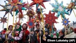 Українці відзначають Різдво у центрі Києва, 7 січня 2018 року