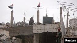 در جنگ هفت سالۀ سوریه بسیاری از ولایت آن کشور به خرابه مبدل شده است