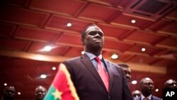Michel Kafando na cerimónia de regresso à Presidência, 23 Setembro 2015