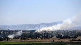 Dim se diže na Golanskoj visoravni kraj prelaya Kuneitra