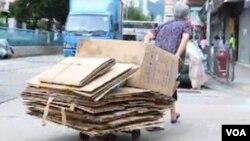 香港貧富差距惡化 (香港蘋果日報視頻截圖)
