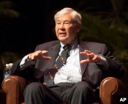 FILE - Bob Graham speaks in Gainesville, Fla., Oct. 12, 2012. The Obama administration will likely soon release at least part of a 28-page secret chapter from a congressional inquiry into 9/11 that may shed light on possible Saudi connections to the attac
