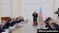Prezident İlham Əliyevin sədrliyi ilə Nazirlər Kabinetinin iclası