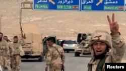 24일 시리아 정부군이 이슬람 수니파 무장조직 ISIL이 장악하고 있는 고대도시 팔미라 진격하고 있다.