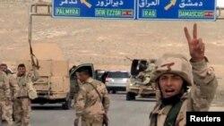 شادمانی نیروهای وفادار به بشار اسد از پیشروی در شهر باستانی پالمیرا