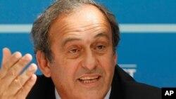 FILE - UEFA President Michel Platini