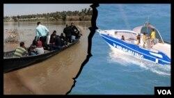 تورهای تفریحی دریایی در کنار دانشآموزانی که با قایق به مدرسه میروند