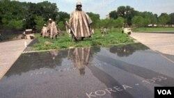 워싱턴의 한국전 참전 기념공원. 27일 바락 오바마 미국 대통령이 참석한 가운데 한국전 정전 60주년 기념식을 개최할 예정이다.