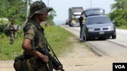 Las fuerzas armadas de Guatemala libran una lucha frontal contra grupos de sicarios.
