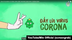 """Screenshot của bài hát """"Ghen Co Vy"""", kêu gọi ý thức của người dân trong thời gian chống dịch Covid-19. Hình minh họa."""