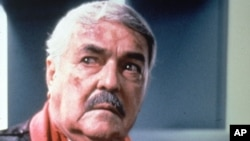 "In this undated file photo originally supplied by Paramount Pictures, James Doohan is shown during an appearance on the ""Star Trek:The Next Generation"" TV series."