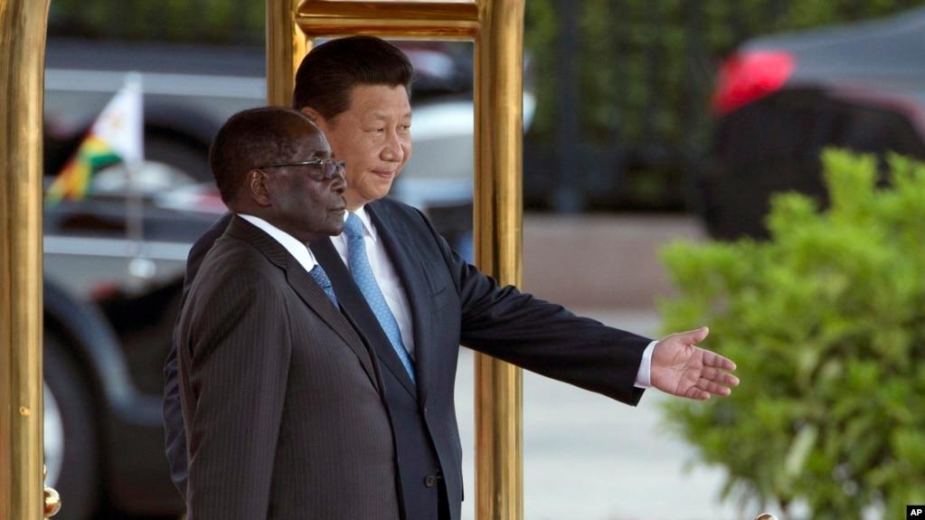 Image result for china and mugabe