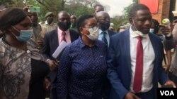 Henrieta Rushwaya on her way to court Tuesday. (Photo: Thomas Chiripasi)
