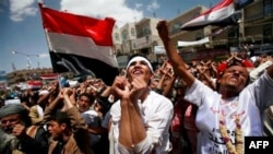 Hàng chục ngàn người kéo nhau xuống đường biểu tình tại thành phố Taiz đòi Tổng thống Yemen Abdullah Saleh từ chức