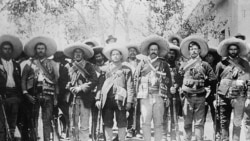 "General Francisco ""Pancho"" Villa, 3rd from right, and his men"