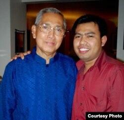 Rahman Pananto saat bertemu sang idola, mantan wakil presiden, Try Sutrisno, di Washington, DC (dok: Rahman Pananto)