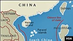Lokasi kepulauan Spratly di Laut Cina selatan.