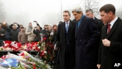 Menlu AS John Kerry di Kyiv, Ukraina