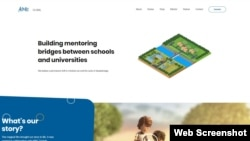 A portion of the AIME Mentoring home page, available at https://aimementoring.com.