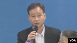 澳门警察总局局长马耀权回应拒绝港记者入境事件(苹果日报视频截图)