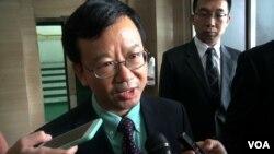 Wakil Dubes China, Sun Weide usai bertemu Menteri Susi Pudjiastuti di Jakarta, Senin 21/3 (VOA/Ahadian).