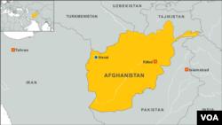 Peta wilayah Herat, Afghanistan (Foto: dok).