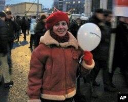 12月24日莫斯科大遊行示威者