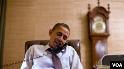Presiden Amerika Barack Obama menelpon mengucapkan selamat kepada calon ketua DPR John Boehner