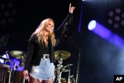 Miranda Lambert performs at the 2017 CMA Music Festival at Nissan Stadium, June 8, 2017 in Nashville, Tennessee.