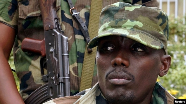 FILE - General Sultani Makenga, military leader of the M23 rebels.