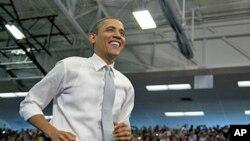 Presidente Barack Obama num comício no Estado da Florida, Abril 2012