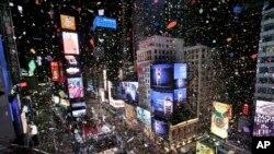 APTOPIX NYC New Year