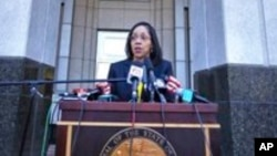 On the steps of the Orange County Courthouse, March 16, 2017, Orange-Osceola State Attorney Aramis Ayala announces that her office will no longer pursue the death penalty as a sentence in any case brought before the 9th Judicial Circuit of Florida.