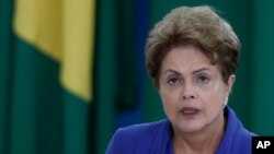 FILE - Brazil's President Dilma Rousseff, is seen in a March 18, 2015, photo.