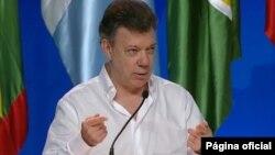 El mandatario colombiano Juan Manuel Santos se reunió con su homólogo español Mariano Rajoy.