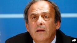 Michel Platini à Monaco, le 28 août 2015. (AP Photo/Claude Paris)