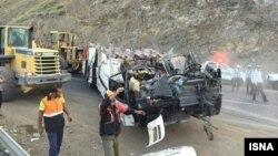 عکس آرشیوی از یک تصادف جادهای در ایران