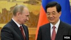 普京星期二在北京與胡錦濤會面