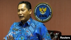 The head of Indonesia's anti-narcotics agency Budi Waseso says narcotics is being pushed to Indonesia from the Philippines..