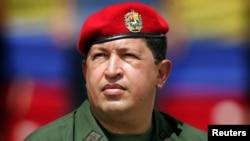 Le President Chavez lors du 3e anniversaire de son retour au pouvoir après un coup d'Etat.