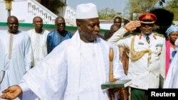 L'ex-président de la Gambie, Yahya Jammeh, à Banjul, Gambie, 13 janvier 2017.