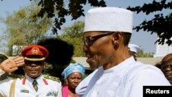 Le président nigérian Muhammadu Buhari à Banjul, en Gambie, 13 janvier 2017.