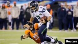 Para atlet dari liga NFL dalam permainan olahraga yang terkadang melibatkan kontak fisik yang keras itu.