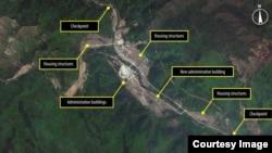 국제 인권단체 앰네스티 인터내셔널이 공개한 지난해 11월 북한 16호 정치범수용소, 명간 관리소의 위성사진.