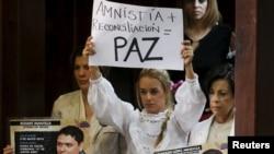 Uno de los beneficiados con la ley de amnistía aprobada sería el líder opositor Leopoldo López.