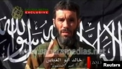 FILE - Veteran jihadist Mokhtar Belmokhtar speaks in this undated still image taken from a video released by Sahara Media, Jan. 21, 2013.